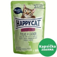 Happy Cat All Meat kapsička Adult Sterilised Kalb & Lamm 85 g