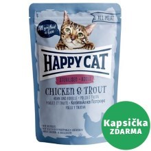 Happy Cat All Meat kapsička Adult Sterilised Huhn & Forelle 85 g