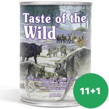 Taste of the Wild Sierra Mountain konzerva 390 g 11+1 ZDARMA