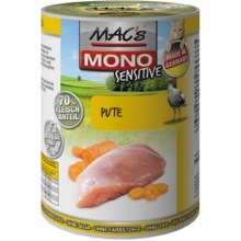 Konz. MACs Cat MONO Sensitive Krůta a mrkev 400g