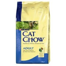 Purina Cat Chow Adult tuňák, losos 1,5 kg