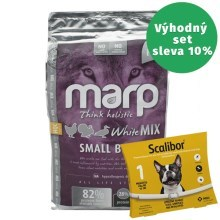 Marp Holistic White Mix Small Breed 2 kg + obojek Scalibor 48 cm