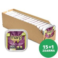 Marp Holistic Dog vanička Mix Chicken & Vegetable 16x 100 g (15+1 ZDARMA)