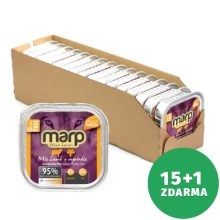 Marp Holistic Dog vanička Mix Lamb & Vegetable 16 x 100 g (15+1 ZDARMA)