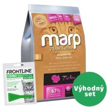 Výhodný set Marp Holistic Turkey Cat 2 kg + Frontline Combo 1x 0,5 ml