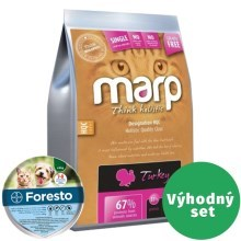 Výhodný set Marp Holistic Turkey Cat 12 kg + Foresto 38