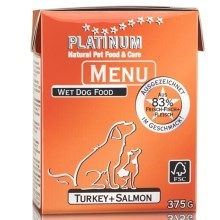 Platinum Natural Menu krocan + losos 375 g