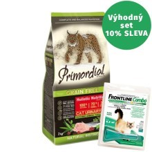 Primordial Cat Urinary Turkey & Herring 2 kg + Frontline Combo 0,5 ml