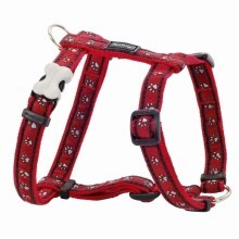 Postroj Red Dingo XS 30 - 44 cm Pawprints Red