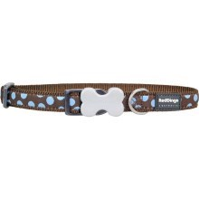 Obojek Red Dingo S 24 - 37 cm Blue Spots on Brown
