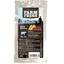 Farm Fresh pamlsky Beef Stripes 250 g