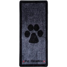 Kobercový běhoun Pet Rebellion Stop Muddy Paws šedý 100 cm