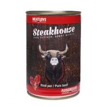 Steakhouse konzerva pro psy Pure Beef 400 g