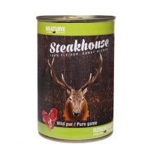 Steakhouse konzerva pro psy Pure Game 400 g
