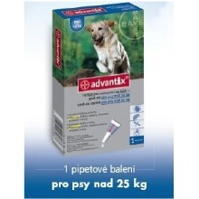 Advantix Spot On 1x4ml pro psy nad 25 kg