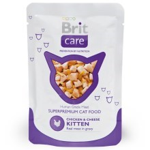 Brit Care Cat kapsička Kitten Chicken & Cheese 80 g