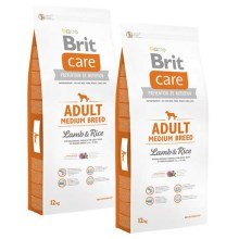 Brit Care Dog Adult Medium Breed Lamb & Rice Duo Pack 2x12kg