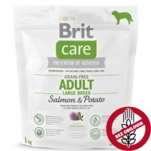 Brit Care Dog Grain-free Adult LB Salmon & Potato 1 kg