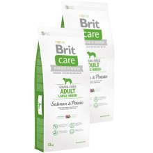 Brit Care Dog Grain-free Adult LB Salmon & Potato 2x12 kg
