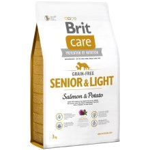 Brit Care Dog Grain-free Senior & Light Salmon & Potato 3kg