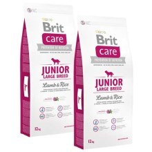 Brit Care Dog Junior Large Breed Lamb & Rice Duo Pack 2x12kg