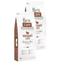 Brit Care Dog Weight Loss Rabbit & Rice Duo Pack 2x12 kg