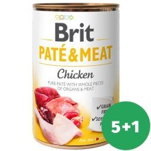 Brit konzerva Paté & Meat Chicken 400 g SET 5+1 ZDARMA