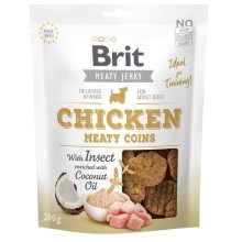 Brit pamlsky Jerky Chicken with Insect Meaty Coins 200 g