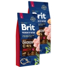 Brit Premium by Nature Adult L Duo Pack 2x 15 kg