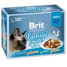 Brit Premium Cat Fillets in Gravy Family Plate 12 ks