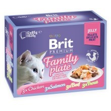 Brit Premium Cat Fillets in Jelly Family Plate 12 ks
