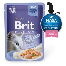 Brit Premium Cat Fillets in Jelly with Salmon 85 g