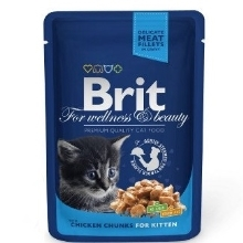 24x Brit Premium Cat kapsa Chicken Chunks for Kitten 100 g
