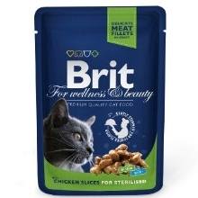 Brit Premium Cat kapsa Chicken Slices for Steril 100 g