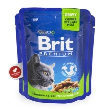 Brit Premium Cat kapsa Chicken Slices for Steril 24x100g VÝHODNÝ SET