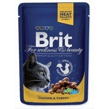 Brit Premium Cat kapsa with Chicken & Turkey 100 g