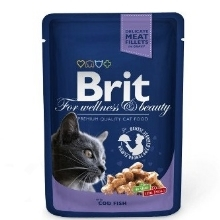 24x Brit Premium Cat kapsa with Cod Fish 100 g