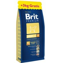 Brit Premium Dog Junior M 15 + 3 kg ZDARMA