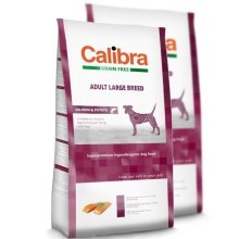 Calibra Dog GF Adult Large Breed Salmon Duo Pack 2 x 12 kg