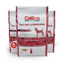 Calibra Dog GF Adult Medium & Small Salmon 2 kg