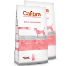 Calibra Dog HA Junior Medium Breed Lamb Duo Pack 2 x 14 kg