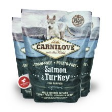 Carnilove Dog Salmon & Turkey for Puppies 1,5 kg (POŠKOZENÝ OBAL) EXP 6/2021