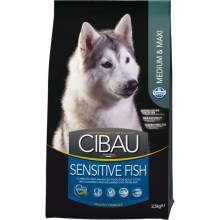 Cibau Dog Adult Sensitive Fish&Rice 12 kg + 2 kg ZDARMA