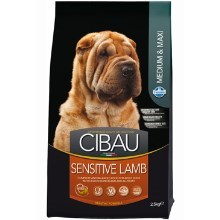 CIBAU Dog Adult Sensitive Lamb&Rice 12kg + 2 kg ZDARMA