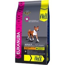 Eukanuba Adult Medium Breed 15 + 3 kg ZDARMA
