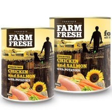 Farm Fresh konzerva Chicken & Salmon with Potatoes 800 g