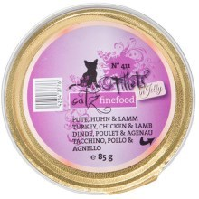 Filetky Catz Finefood No.411 krůta, kuře, jehně 85 g