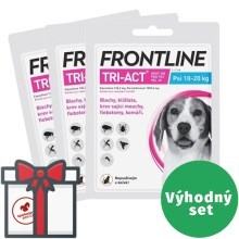 Frontline Tri-Act spot-on pro psy SET 3x M (10-20 kg)