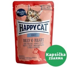Happy Cat All Meat kapsička Adult Rind & Herz 85 g