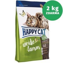 Happy Cat Supreme Adult Weide-Lamm 10 + 2 kg ZDARMA